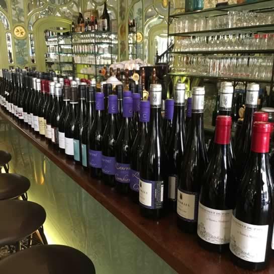 Bouillon Racine, carte des vins