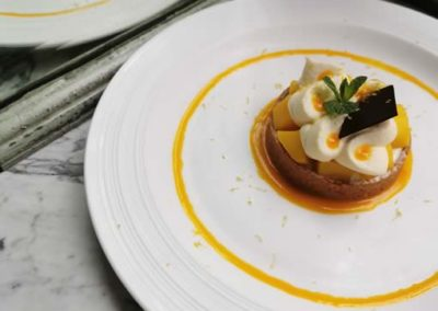 Bouillon Racine, Tarte façon cheese cake à la mangue